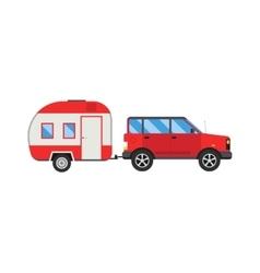 Jeep trailer vector