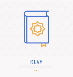 Koran thin line icon modern vector
