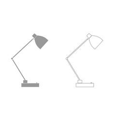 lamp grey set icon vector image