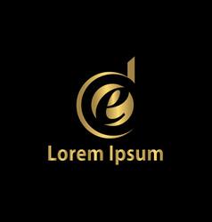 letter e business logo vector image