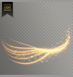 Light streak with shimmer effect vector