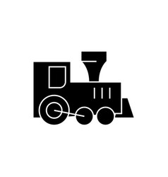 locomotive train toy icon vector image