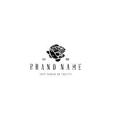 Logo design rose vector