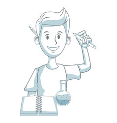 male chemistry student vector image