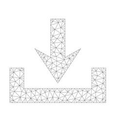 Mesh downloads icon vector