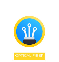 Optical fiber icon logo design vector
