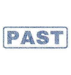 past textile stamp vector image