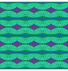 Pattern with bold ethnic stylized ornaments vector image