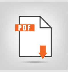 pdf icon isolated vetor vector image