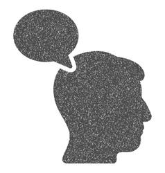 Person Opinion Grainy Texture Icon vector