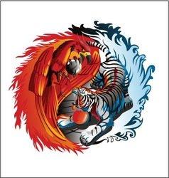 Phoenix and tiger vector