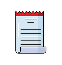 Receipt paper document isolated icon vector