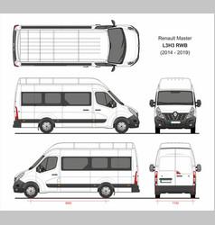 Renault master passenger van l3h3 rwd 2014-2019 vector