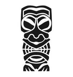 Ritual aztec idol icon simple style vector