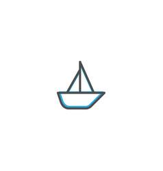 sailboat icon design transportation icon design vector image