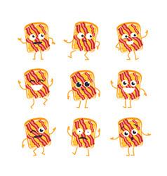 Sandwich - set mascot vector