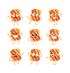 sandwich - set of mascot vector image