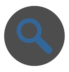 Search flat cobalt and gray colors round button vector