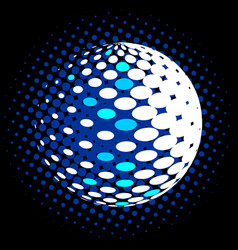 Set abstract halftone 3d spheres 30 vector