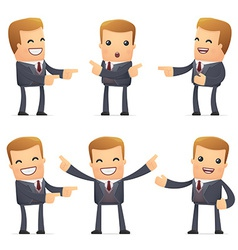Set advisor character in different poses vector