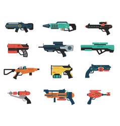 set futuristic weapons vector image