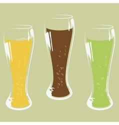 Set of beer glass vector image