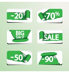 Set of Paper Stickers for Stock Sales vector