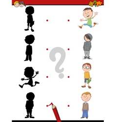Shadow activity for children vector