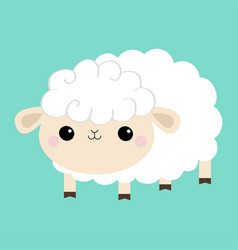 Sheep lamb icon cloud shape cute cartoon kawaii vector