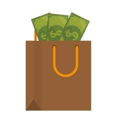shopping bag commercial icon vector image