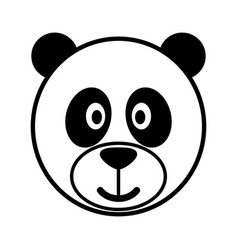 simple cartoon of a cute panda vector image