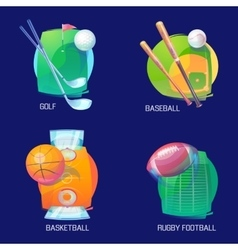 sport logo basketball and baseball golf vector image
