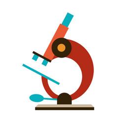 stylized microscope vector image
