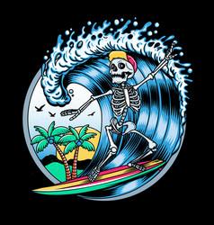 surfing t-shirt designs logo vector image