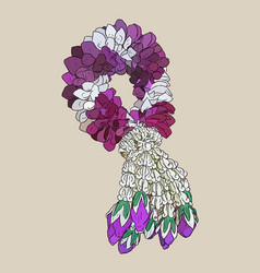 Tha tradition garland flower vector
