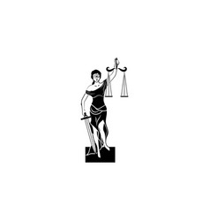 themis icon black on white background vector image
