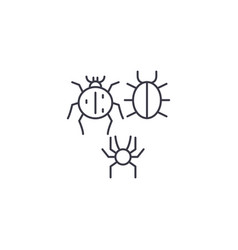 three bugs line icon sign on vector image