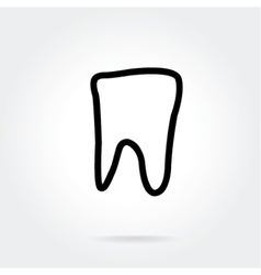 Tooth icon for dentists business vector