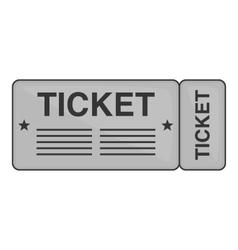 Train ticket icon black monochrome style vector