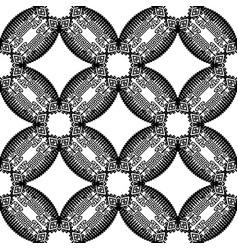 tribal geometric greek seamless pattern black vector image