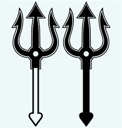 Trident symbol vector image