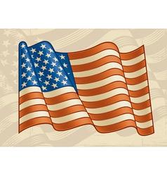 Vintage American Flag vector image