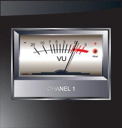 VU meter background vector