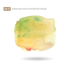 Watercolor abstract elements vector