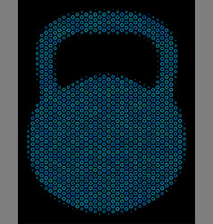 weight collage icon of halftone bubbles vector image