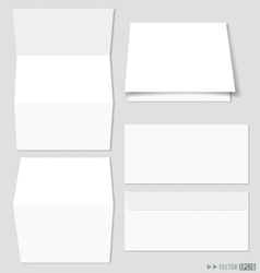 White paper and envelopes vector