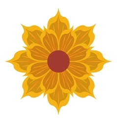 Yellow flower icon vector