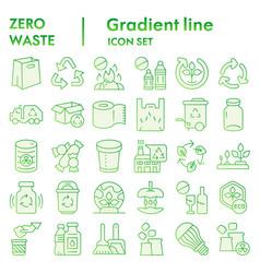 Zero waste flat icon set reuse symbols collection vector