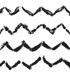 Zigzag handdrawn trendy seamless pattern vector image