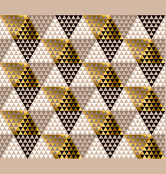 abstract gold and black luxury pattern vector image